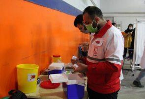 بیش از ۱۰۰۰ عضو جوان هلال احمر گیلان در واکسیناسیون مشارکت دارند
